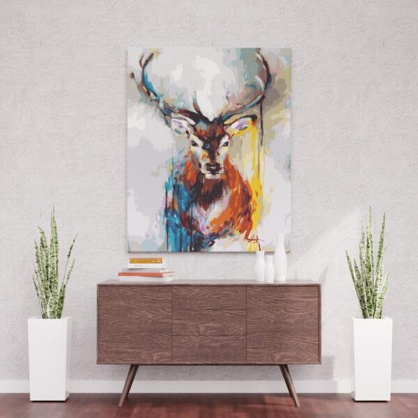 Jeleń - Malowanie po numerach