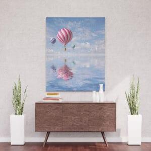 Balon nad wodą - mozaika