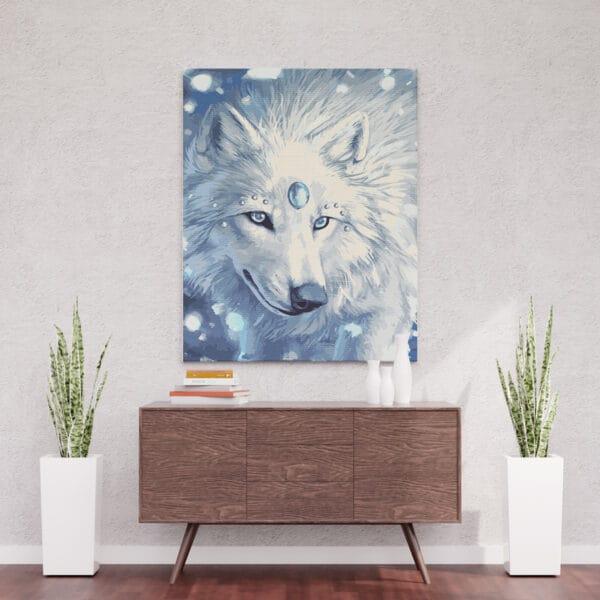 Biała wilczyca