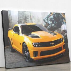 Żółty samochód sportowy - mozaika