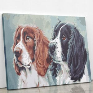Czekające dwa psy