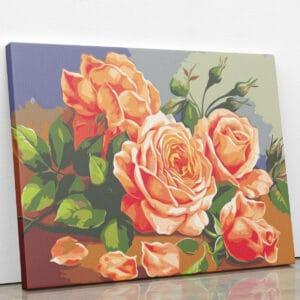 Czerwone róze do malowania po numerach