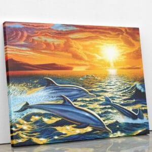 Rajd delfinów - mozaika