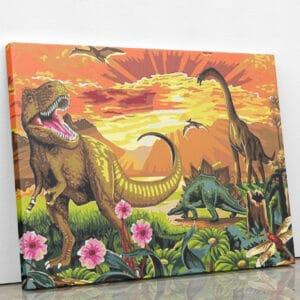 Dinozaury w parku jurajskim
