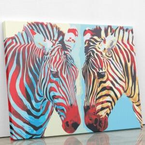 Dwie zebry - po numerach