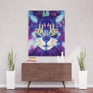 Hipnotyzujący kot - mozaika