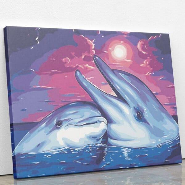 Wodne igraszki delfinów