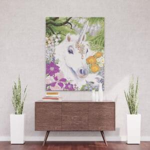 Jendorożec w kwiatach - mozaika