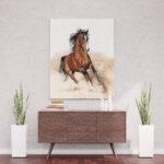 Koń arabski - obraz do malowania po numerach
