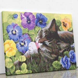 Kotek na łące - mozaika