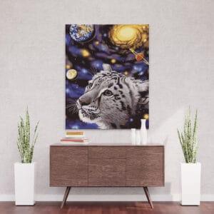 Kot w kosmosie - Diamentowa mozaika