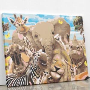 Afrykańskie zwierzęta na Safari
