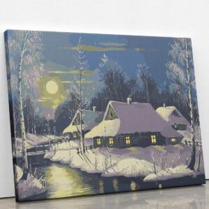 Księżyc nad chatami