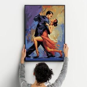 Taniec tango - obraz po numerach