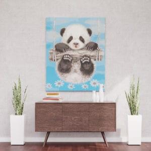 Miś Panda na huśtawce