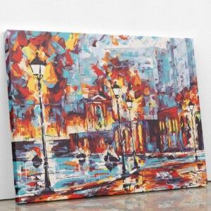 Płonące miasto do malowania