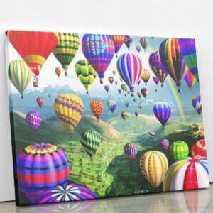 Balony nad Kapadocją - mozaika