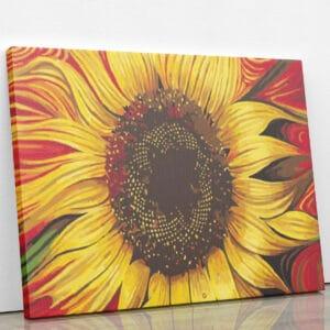 Słonecznik - malowany po numerach